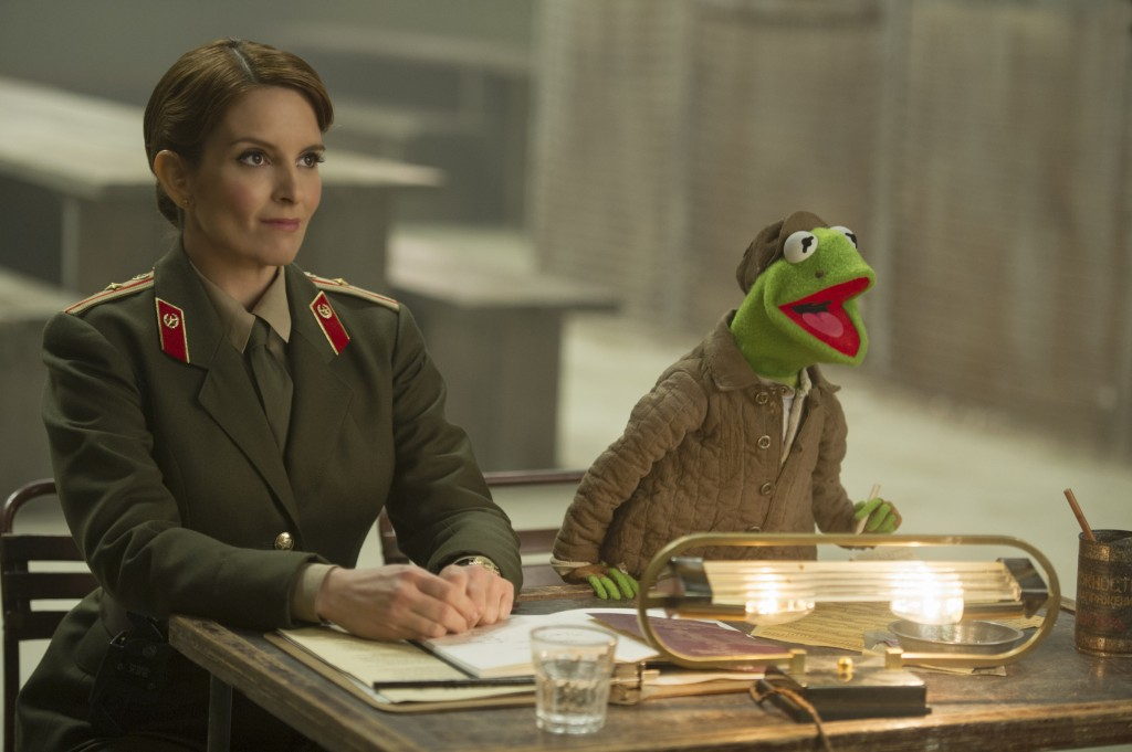 A scene from the new movie 'Muppets Most Wanted'