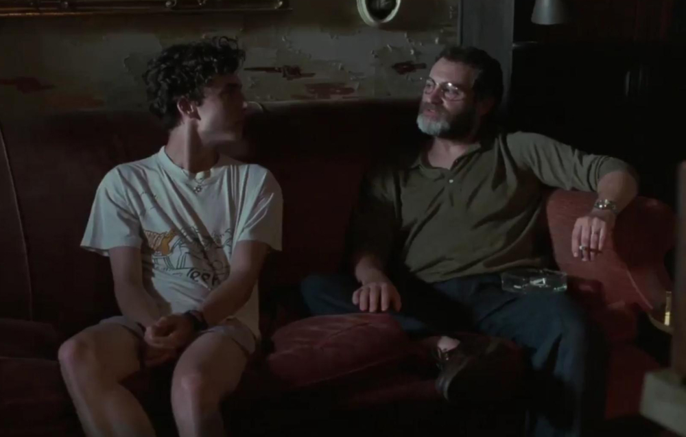 Timothee Chalamet und Michael Stuhlbarg, Vater-Sohn-Gespräch - Call Me by Your Name
